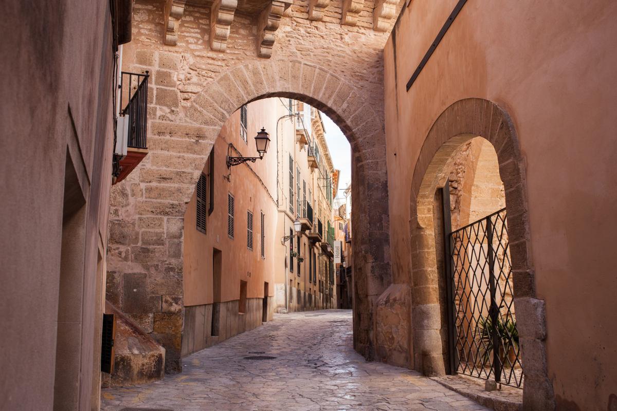 In der Altstadt von Palma