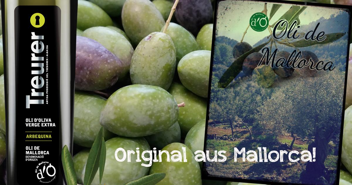 Die feinsten der mallorquinischen Olivenöle liefert Fet a Sóller bis nach Hause