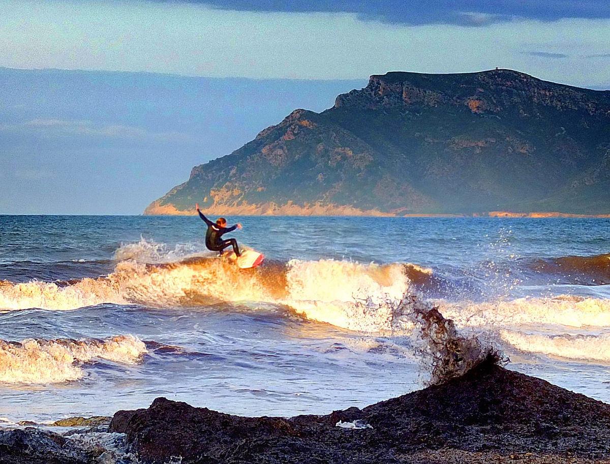 Surfer vor Mallorca